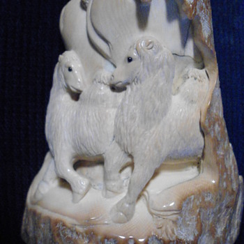 Another Woolly mammoth Ivory Carving  - Asian