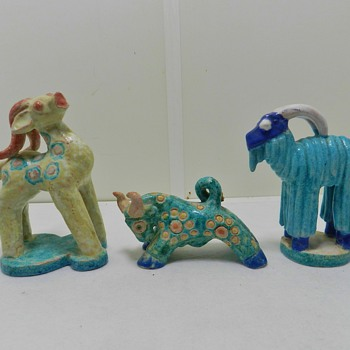 Bizarro Art Pottery Firgurals - Marked on Bottom - Total Mystery - Pottery