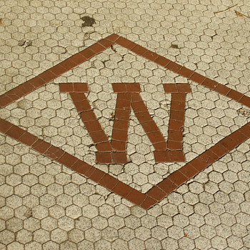 Woolworth's Mosaic Entryway, Kingston, PA - Advertising