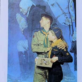 Saturday Evening Scout Post Norman Rockwell Calendar Art - Sporting Goods