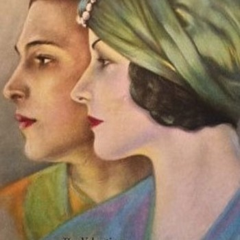 Original September 1923 Motion Picture Magazine Rudolph Valentino & Natacha Rambova