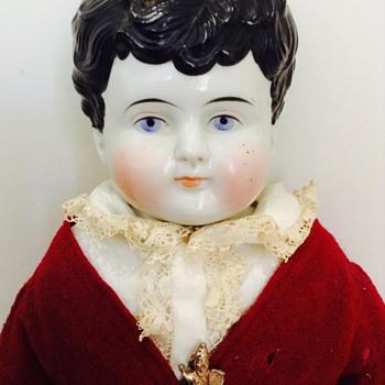 Ca. 1880's China Head Boy Doll - Dolls