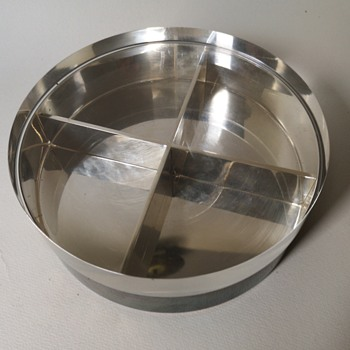 Silver plated bowl with acryylic lid with SD mark - Silver