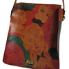 Early 1970s Elyse Stone Painted Leather Bag