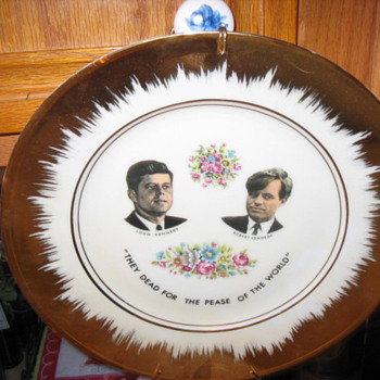Kennedy Bros. Memorial Plate - Misprint / Typo? - China and Dinnerware