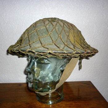 British WWII North Africa steel helmet