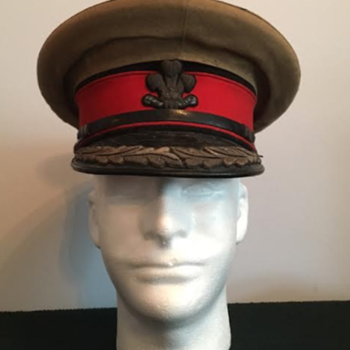 WWII Welsh County Deputy Lord Lieutenant's Visor Cap  - Military and Wartime