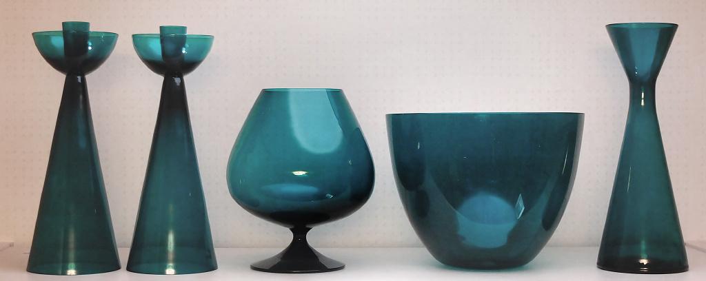 Candlesticks Cognac Cup Vase Bowl And Vase In Heliotrop Color