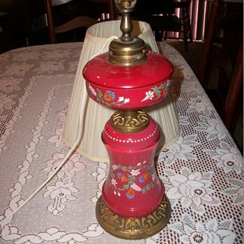 Hand Panted Kerosene Lamp - Lamps