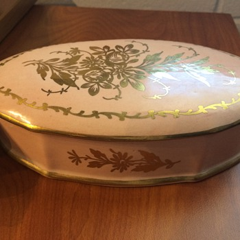 Limoges Hand Painted Powder Box