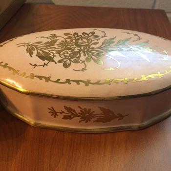 Limoges Hand Painted Powder Box - China and Dinnerware