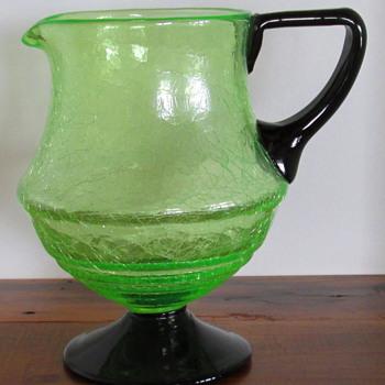 LOETZ...Crackle Jug - Art Glass