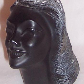 Frank Schirman Carved Black Coral Bust 1967
