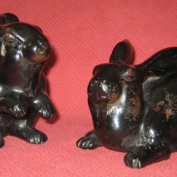 Vintage Japanese Made Hare Doorstops - Animals