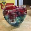 Blown art glass bowl