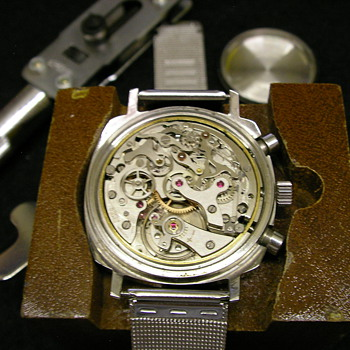 1970's Ollech & Wajs Chronograph Wristwatch - Wristwatches