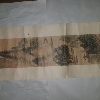 Vintage Asian art scroll - Fine Art