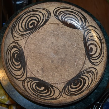 Another umanome [horse's eye] plate from Japan. - Asian