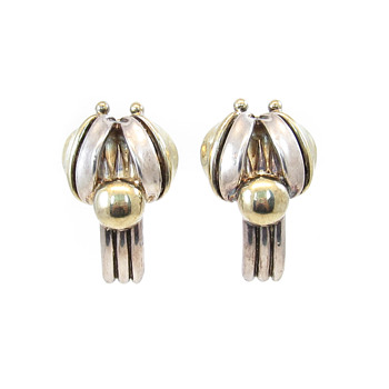 Unsigned modernist earrings - Costume Jewelry