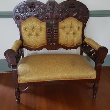 Antique Parlor Set - Furniture
