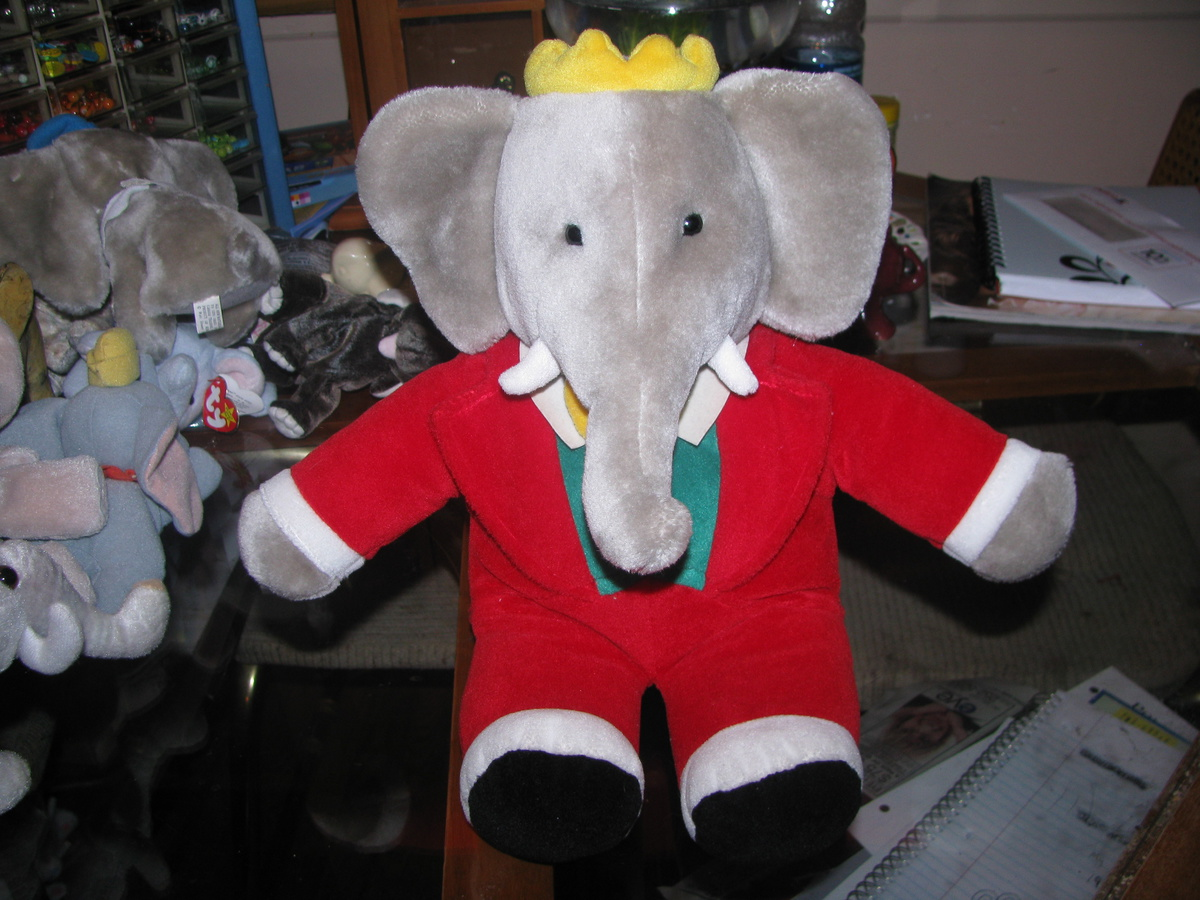 Babar Large Elephant Plush Collectors Weekly