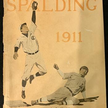 1911 Spalding Baseball Catalog - Baseball