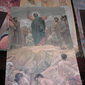 religious paintings on canvas or tapestry art unknown - Posters and Prints