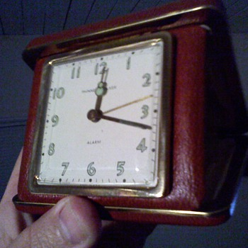 realy neat old Phinney -Walker travel clock