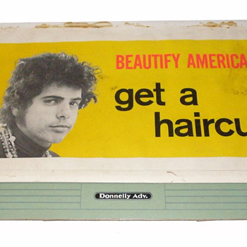 """#46 ~ 1968 """"Beautify America - Get A Haircut"""" Billboard Client Mock-up"""
