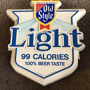 Heilemans Old style light beer light up sign 1980 - Breweriana