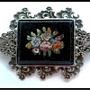 Antique Micro Mosaic brooch set in 835 Silver