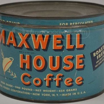Old Maxwell House Coffee Can - Kitchen