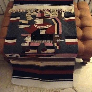 Vintage handloomed wool  blanket  - Rugs and Textiles