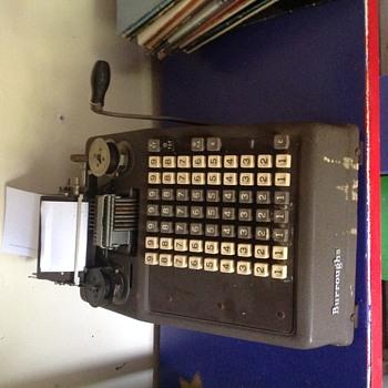 Burroughs Adding Machine. Class 8? Value?