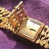 1970's Ladies Gold Bulova Hidden Face Wristwatch