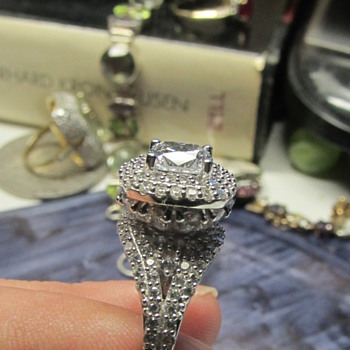 Stacked gemstone ring  - Silver