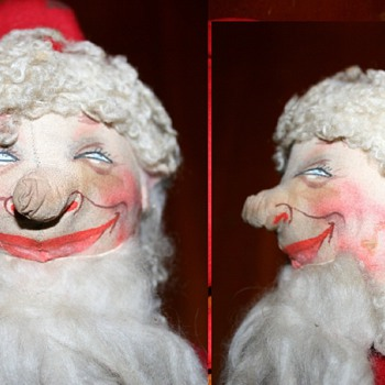 "Vintage ""Drunk Santa"" - who is the doll's maker? - Christmas"