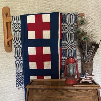 Red Cross Quilt - WWI - Folk Art