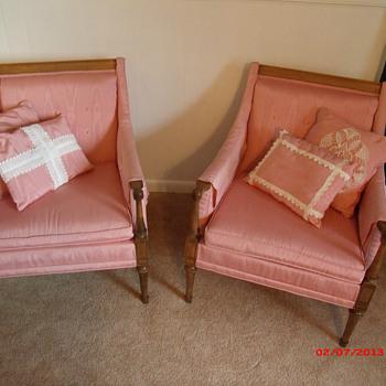 Pair of slipper chairs...