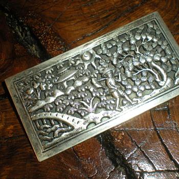 Rare Vietnamese massive silver brooch 1950s. - Fine Jewelry