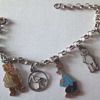 Silver Enameled Belcher Charm bracelet - Fine Jewelry