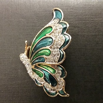 Panetta butterfly brooch  - Costume Jewelry
