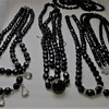 Black glass beads for lentilka
