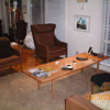 Hans Wegner Oak and Teak Coffe table, large, ca 1965, made by Tuck