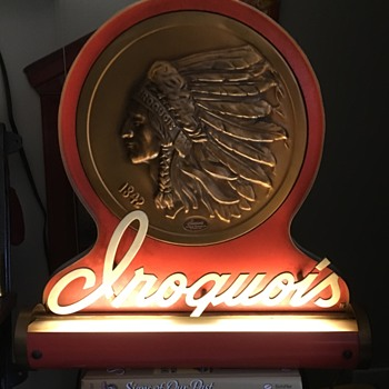 Iroquois beer sign - Breweriana