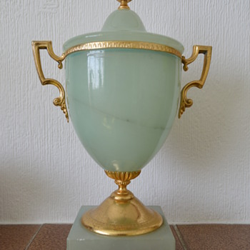 Hand carved alabaster urn - made in Italy
