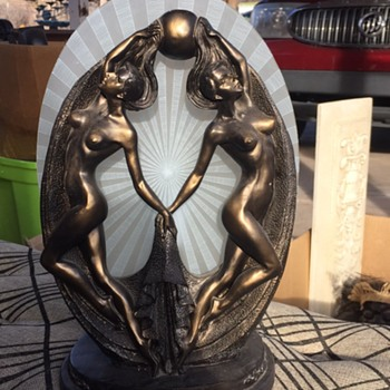 Vintage double nude lady lamp - Lamps
