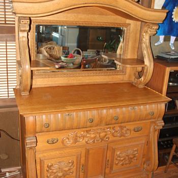 Oak Buffet - Need help identifying! - Furniture