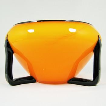 "Loetz Ausführung 162 Mandarin Orange Tango Glass ca. 1910 PN II-7318 / 7"" - Art Glass"