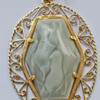 18KT yellow gold pendant with setting